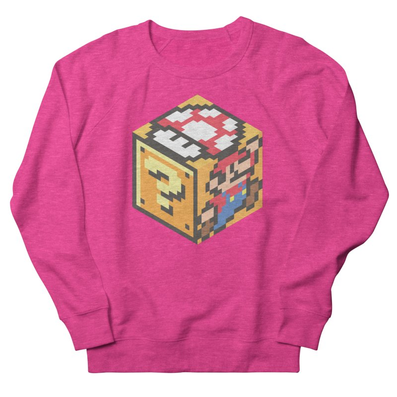 Isometric Mario Cube Women's French Terry Sweatshirt by Wasabi Snake