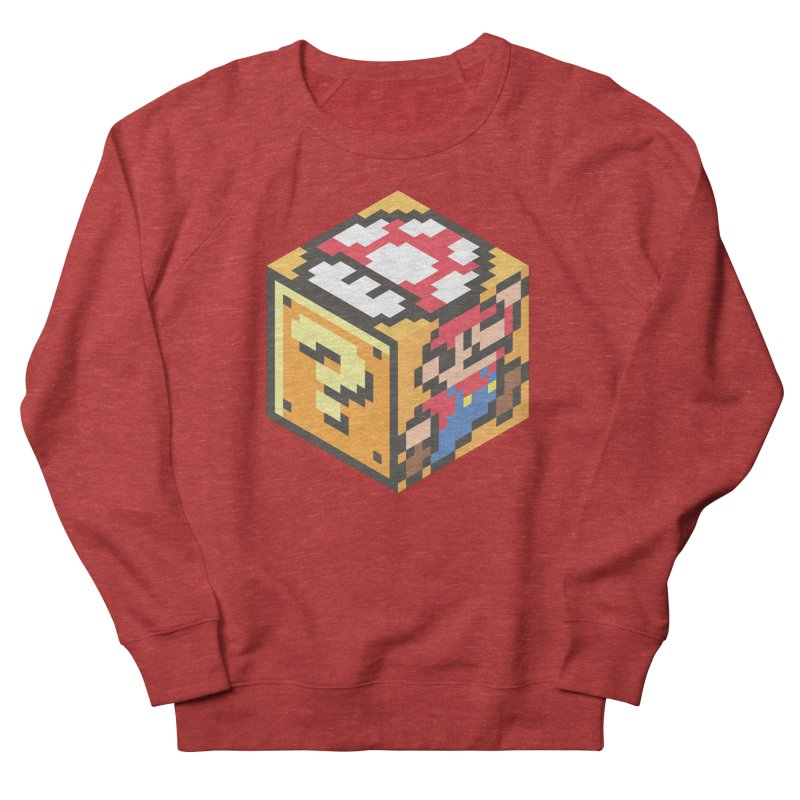 Isometric Mario Cube Men's French Terry Sweatshirt by Wasabi Snake