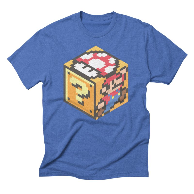 Isometric Mario Cube Men's T-Shirt by Wasabi Snake