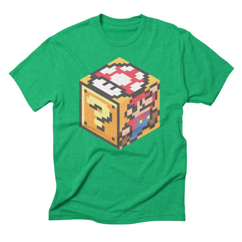 Isometric Mario Cube Men's Triblend T-Shirt by Wasabi Snake