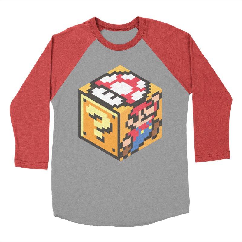 Isometric Mario Cube Women's Baseball Triblend T-Shirt by Pete Styles' Artist Shop