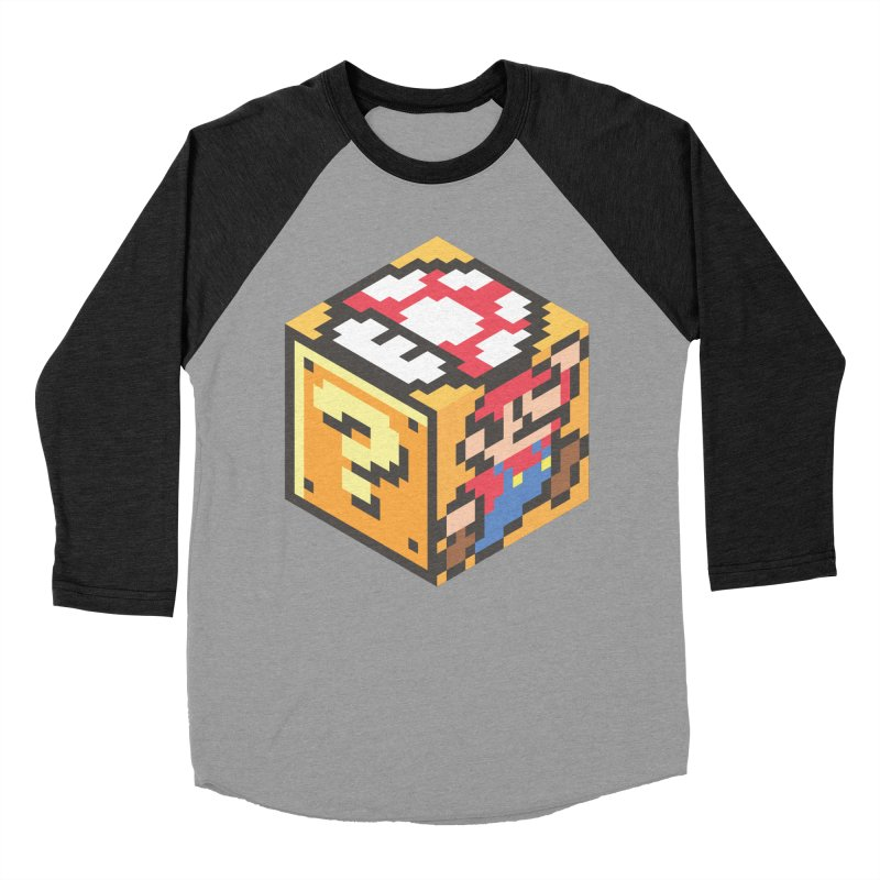 Isometric Mario Cube Women's Baseball Triblend Longsleeve T-Shirt by Wasabi Snake