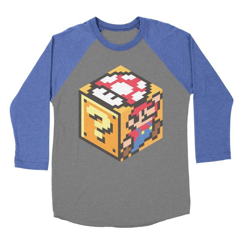 Isometric Mario Cube Men's Baseball Triblend Longsleeve T-Shirt by Wasabi Snake