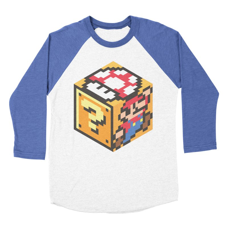 Isometric Mario Cube Men's Baseball Triblend Longsleeve T-Shirt by Wasabi Snake