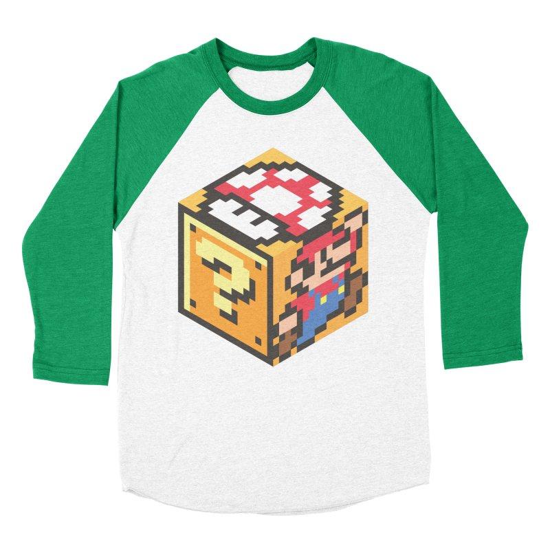 Isometric Mario Cube Men's Baseball Triblend T-Shirt by Pete Styles' Artist Shop