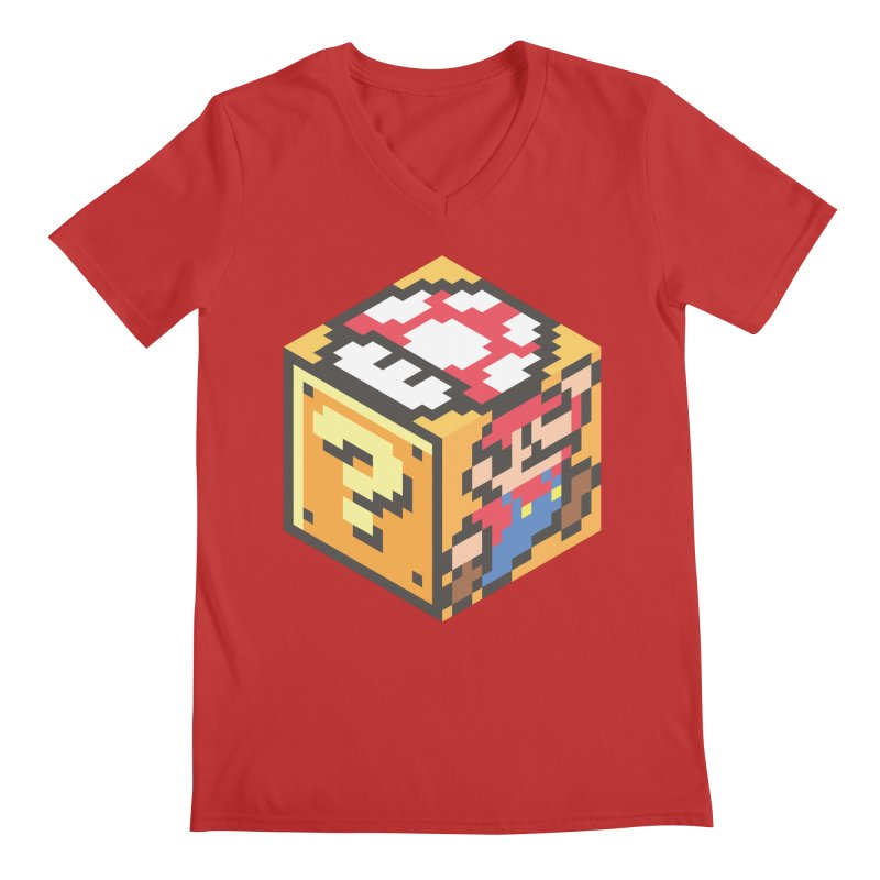Isometric Mario Cube Men's V-Neck by Pete Styles' Artist Shop