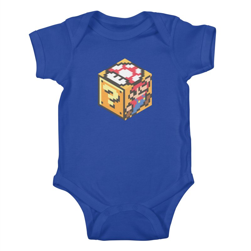 Isometric Mario Cube Kids Baby Bodysuit by Pete Styles' Artist Shop