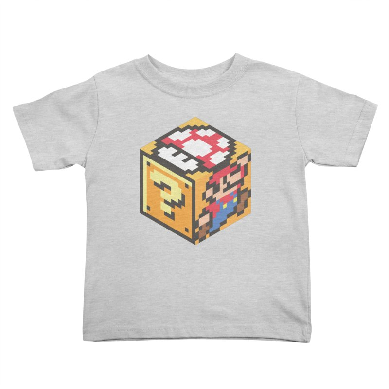 Isometric Mario Cube Kids Toddler T-Shirt by Pete Styles' Artist Shop