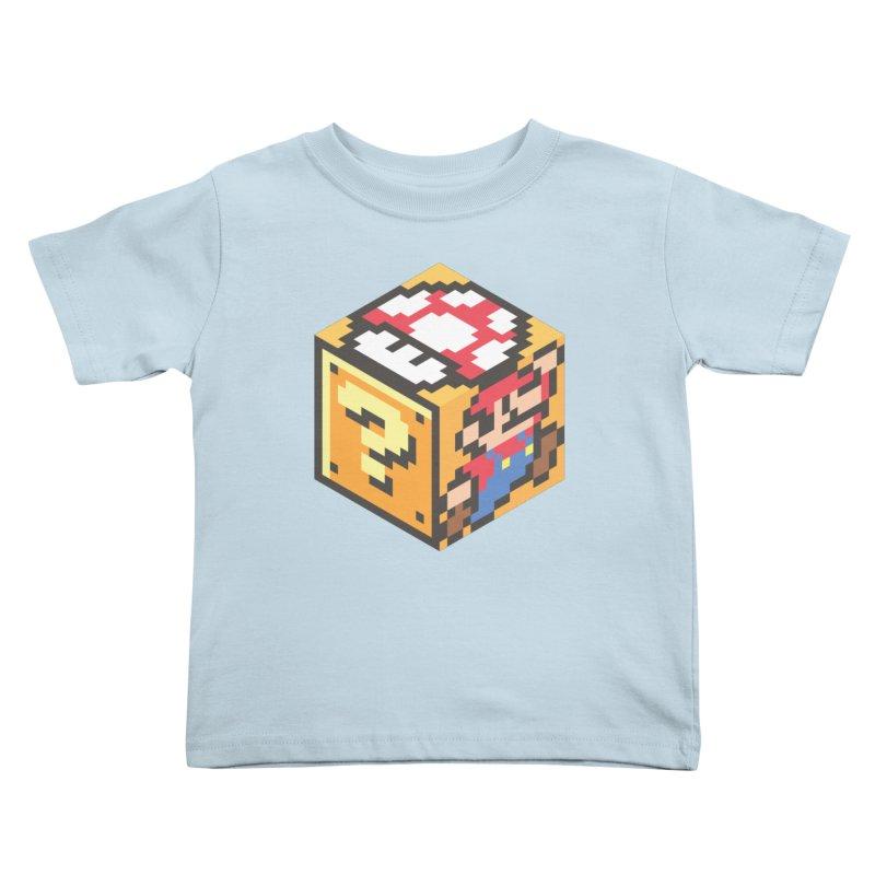 Isometric Mario Cube Kids Toddler T-Shirt by Wasabi Snake