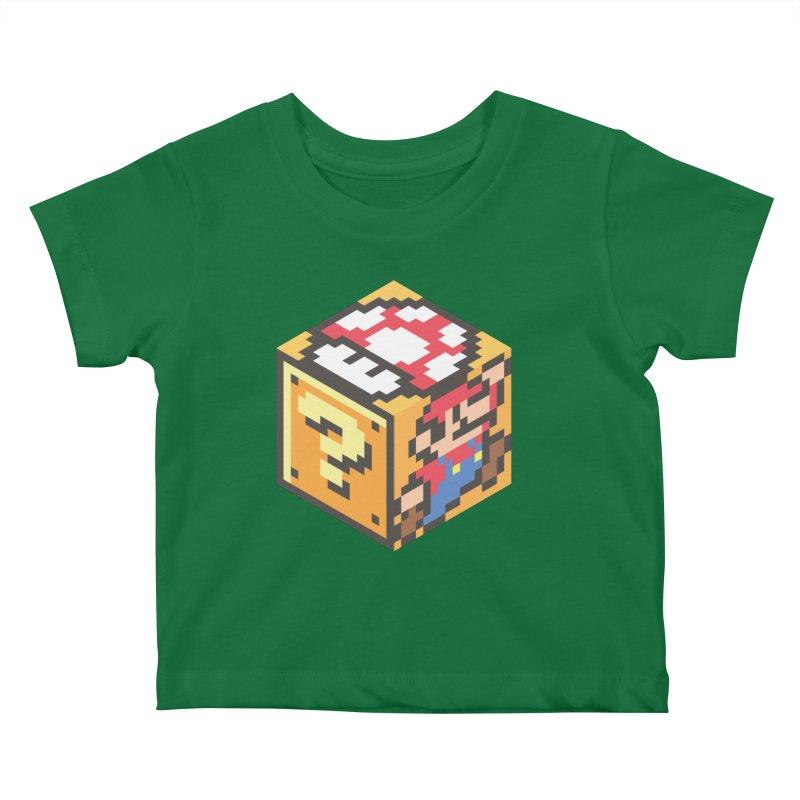 Isometric Mario Cube Kids Baby T-Shirt by Wasabi Snake