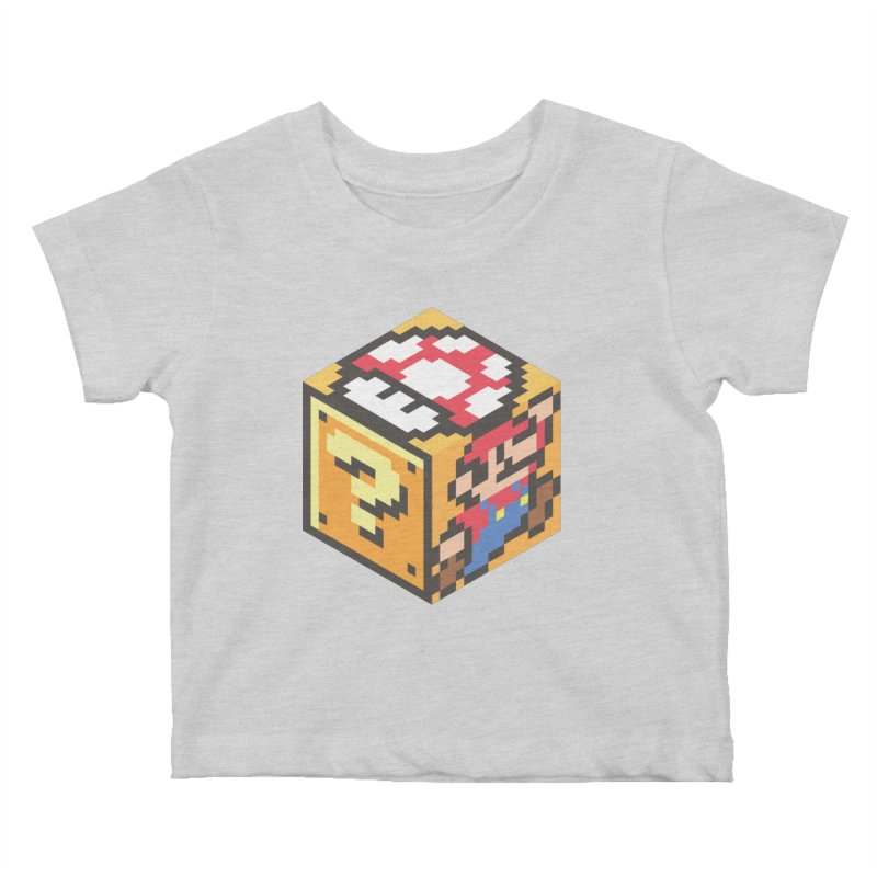 Isometric Mario Cube Kids Baby T-Shirt by Pete Styles' Artist Shop