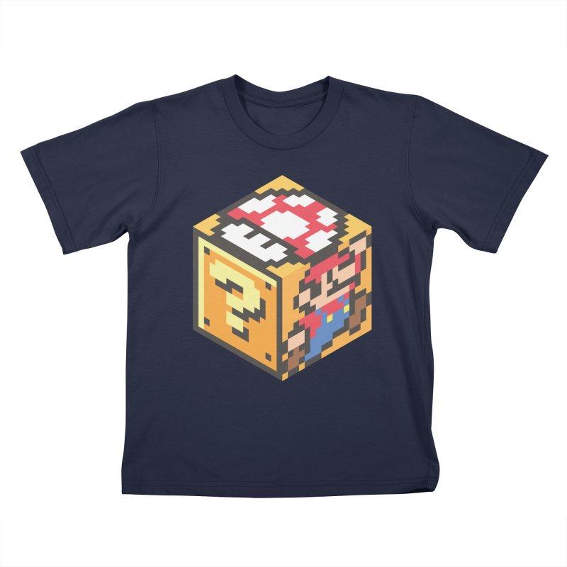 Isometric Mario Cube Kids T-Shirt by Wasabi Snake
