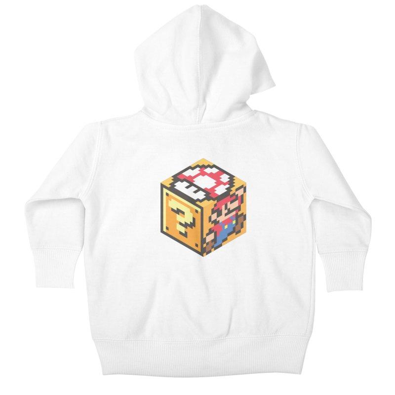 Isometric Mario Cube Kids Baby Zip-Up Hoody by Pete Styles' Artist Shop
