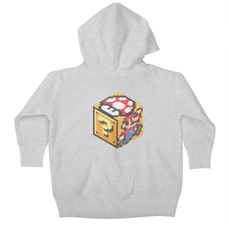Isometric Mario Cube Kids Baby Zip-Up Hoody by Wasabi Snake