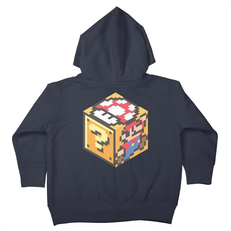 Isometric Mario Cube Kids Toddler Zip-Up Hoody by Wasabi Snake