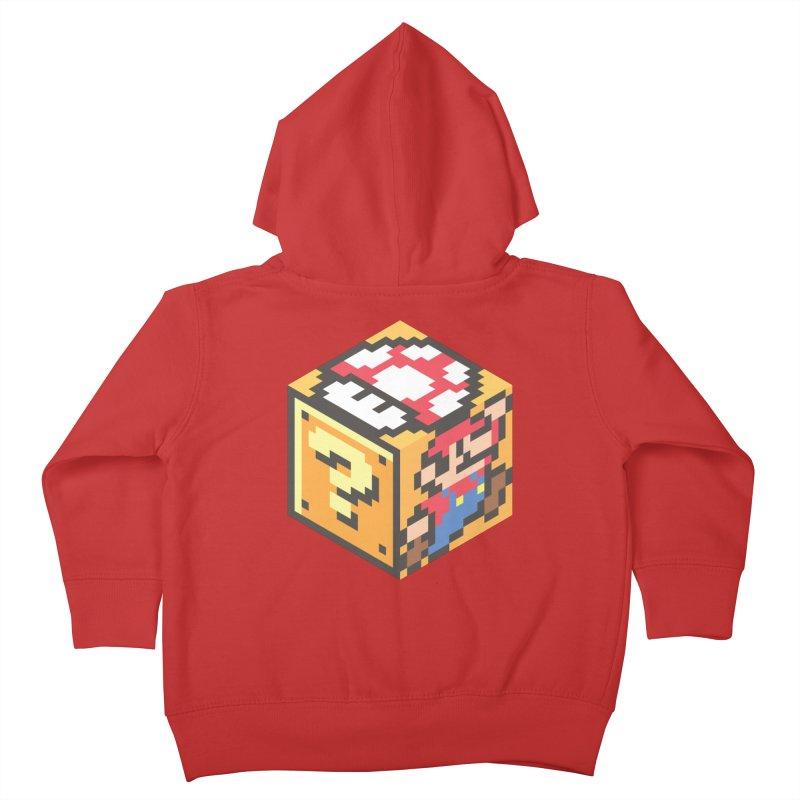 Isometric Mario Cube Kids Toddler Zip-Up Hoody by Pete Styles' Artist Shop