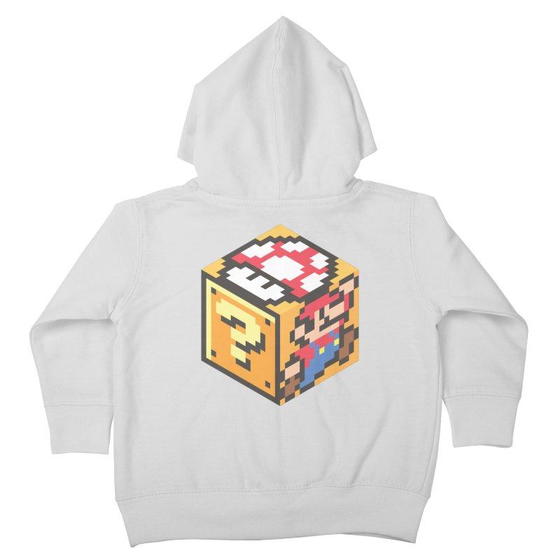 Isometric Mario Cube Kids Toddler Zip-Up Hoody by Wasabi Snake
