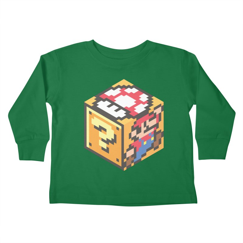 Isometric Mario Cube Kids Toddler Longsleeve T-Shirt by Wasabi Snake