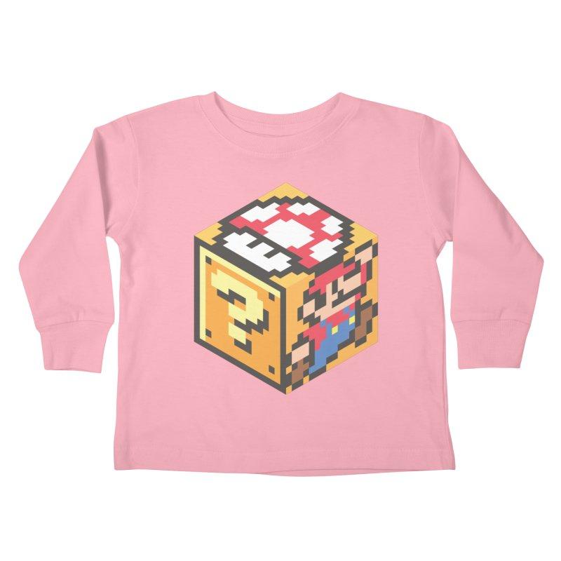 Isometric Mario Cube Kids Toddler Longsleeve T-Shirt by Wasabi Snake
