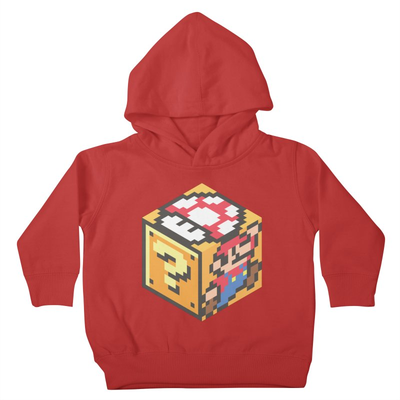 Isometric Mario Cube Kids Toddler Pullover Hoody by Wasabi Snake