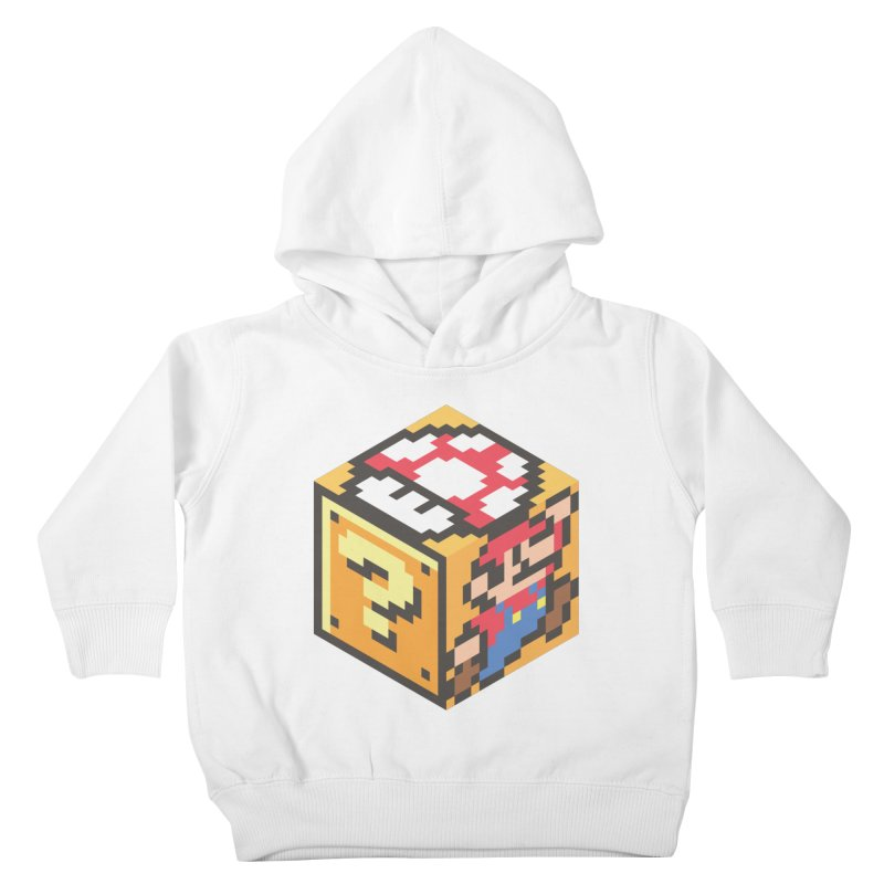 Isometric Mario Cube Kids Toddler Pullover Hoody by Pete Styles' Artist Shop