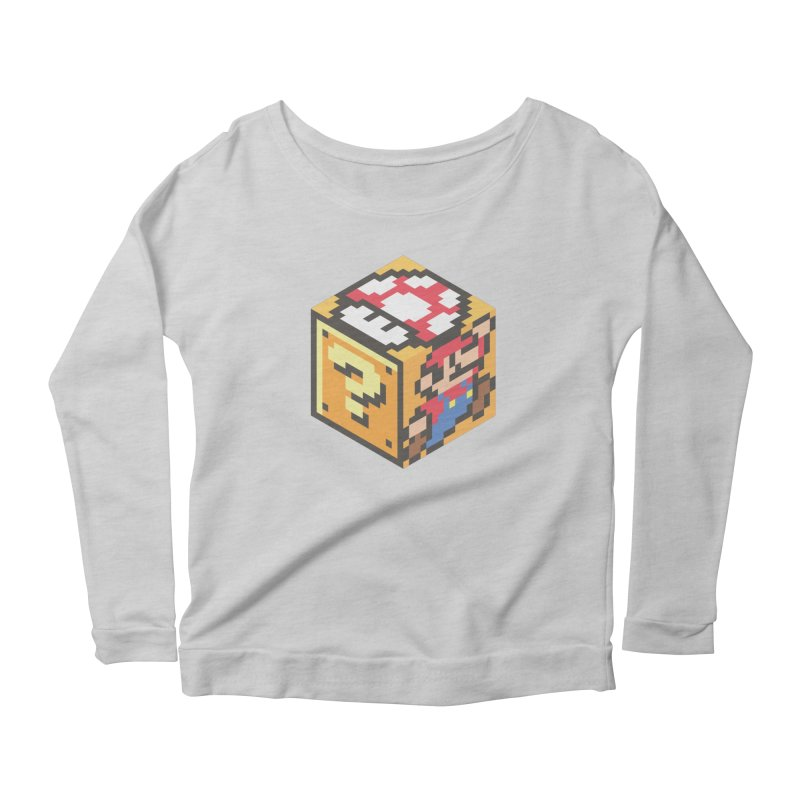 Isometric Mario Cube Women's Scoop Neck Longsleeve T-Shirt by Wasabi Snake