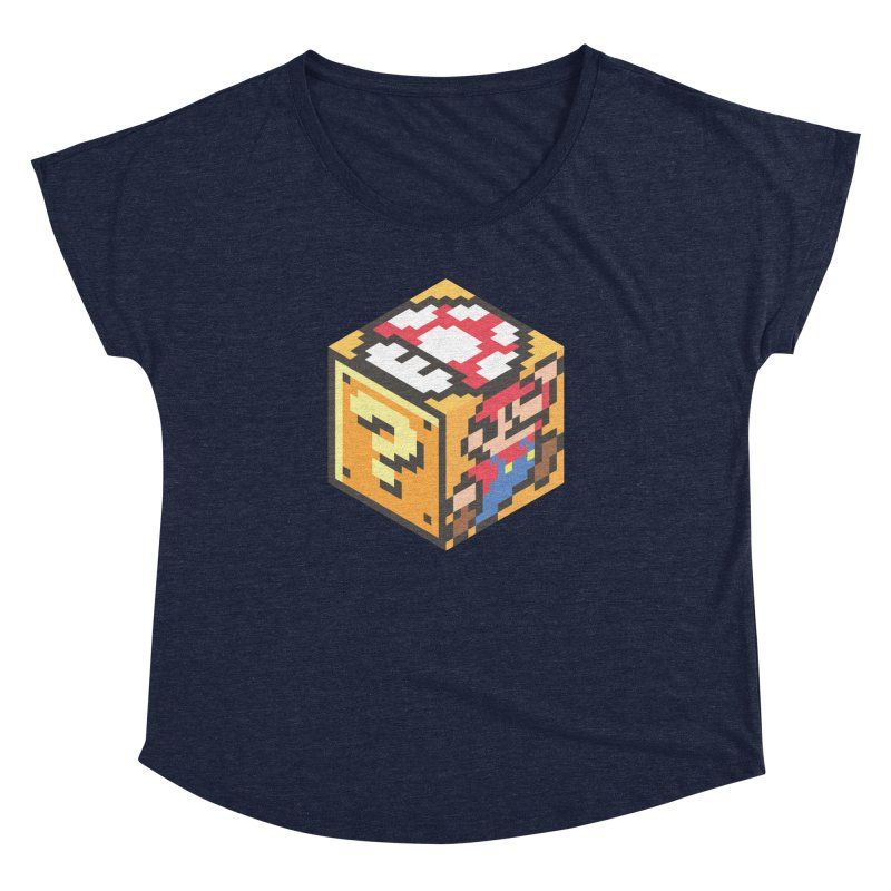 Isometric Mario Cube Women's Dolman Scoop Neck by Wasabi Snake