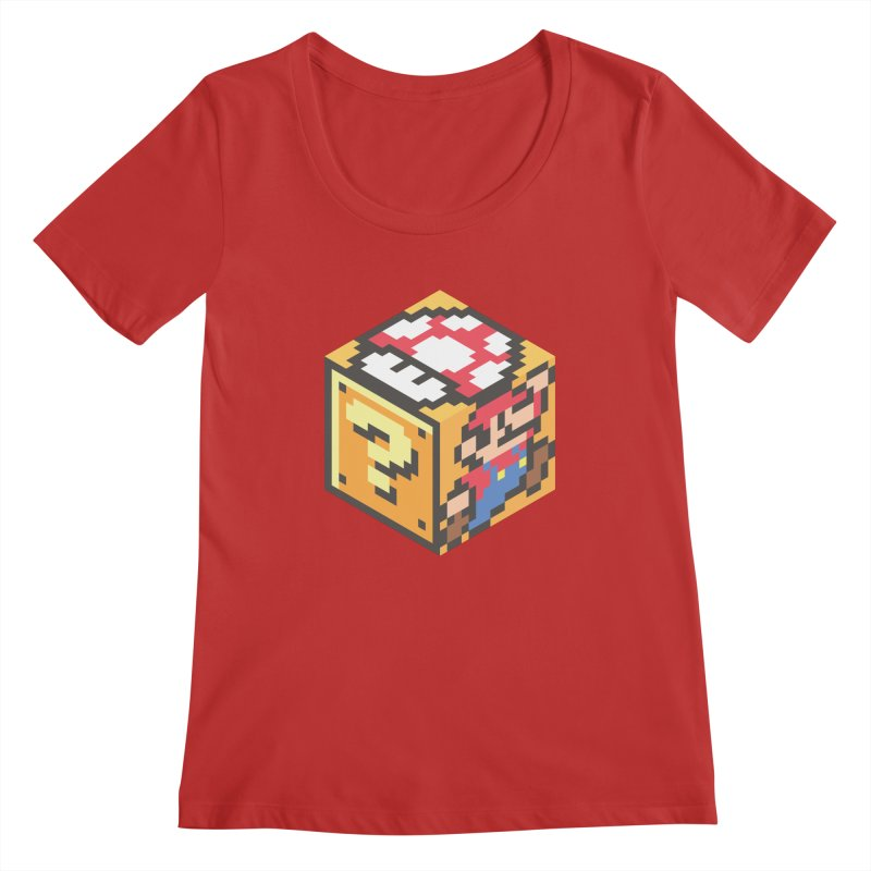 Isometric Mario Cube Women's Regular Scoop Neck by Wasabi Snake