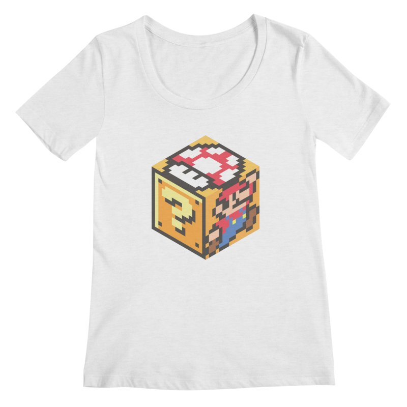 Isometric Mario Cube Women's Scoop Neck by Wasabi Snake