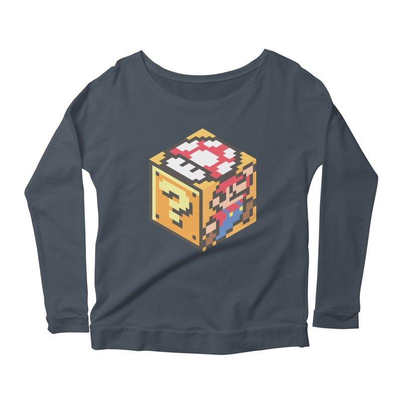Isometric Mario Cube Women's Longsleeve T-Shirt by Wasabi Snake