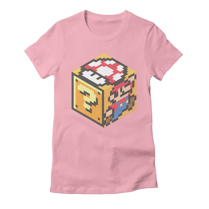 Isometric Mario Cube Women's Fitted T-Shirt by Pete Styles' Artist Shop