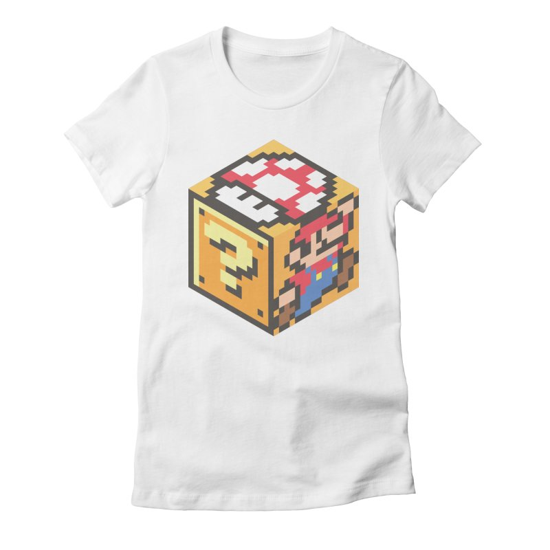 Isometric Mario Cube Women's Fitted T-Shirt by Wasabi Snake