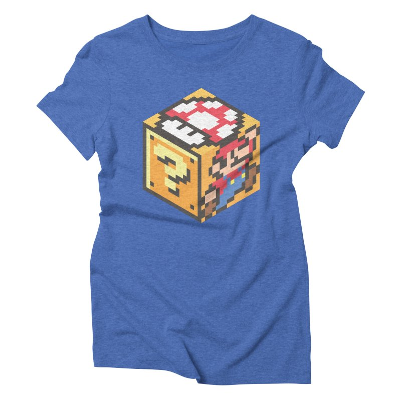Isometric Mario Cube Women's Triblend T-Shirt by Wasabi Snake