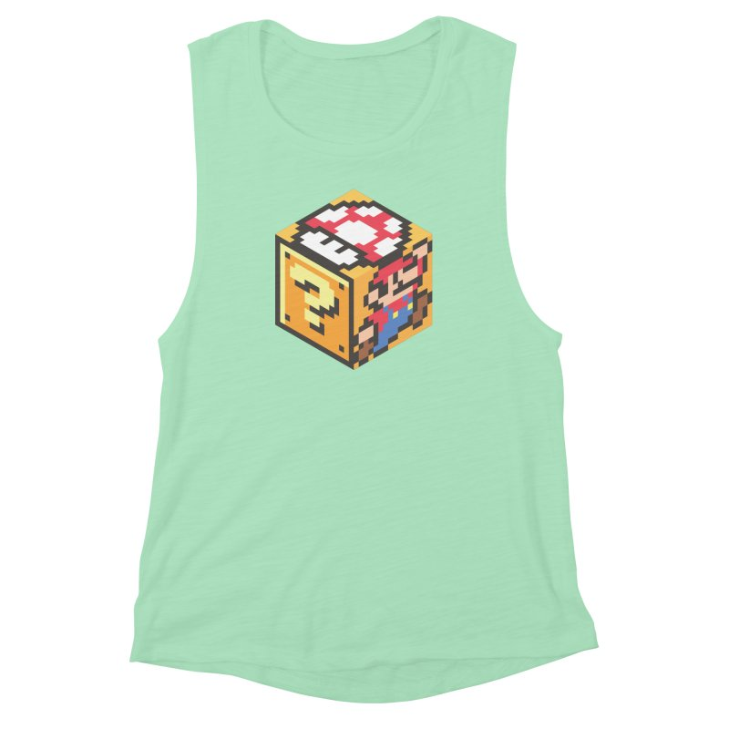 Isometric Mario Cube Women's Muscle Tank by Wasabi Snake