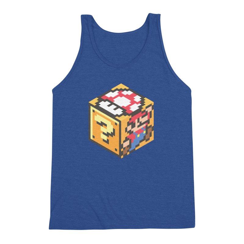 Isometric Mario Cube Men's Triblend Tank by Pete Styles' Artist Shop