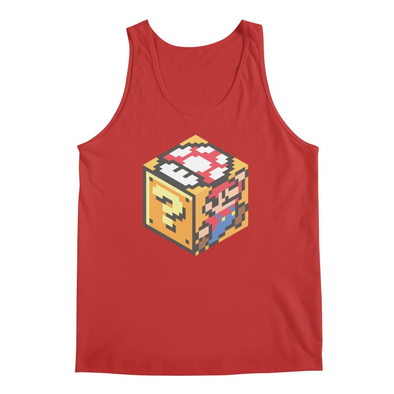 Isometric Mario Cube Men's Tank by Pete Styles' Artist Shop