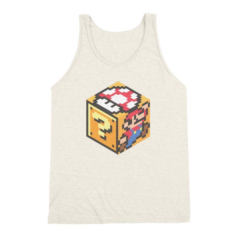 Isometric Mario Cube Men's Triblend Tank by Wasabi Snake