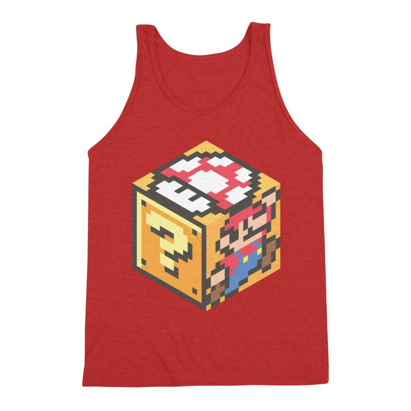 Isometric Mario Cube Men's Triblend Tank by Wasabi Snake