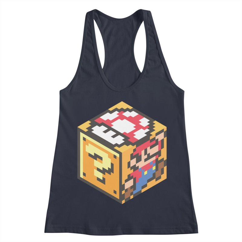 Isometric Mario Cube Women's Racerback Tank by Wasabi Snake