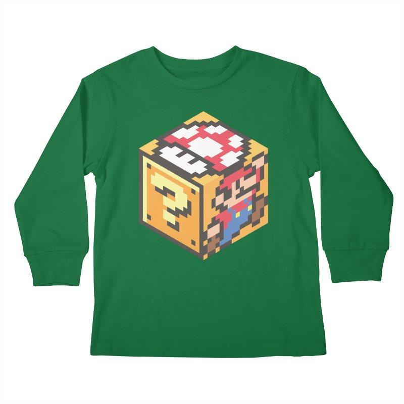 Isometric Mario Cube Kids Longsleeve T-Shirt by Wasabi Snake
