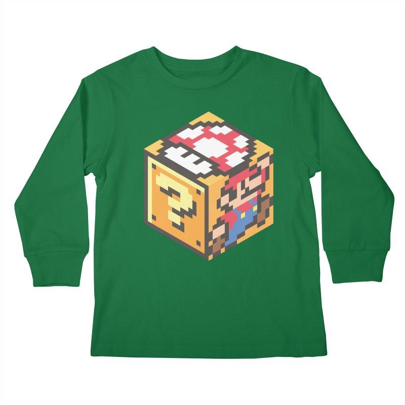 Isometric Mario Cube Kids Longsleeve T-Shirt by Pete Styles' Artist Shop