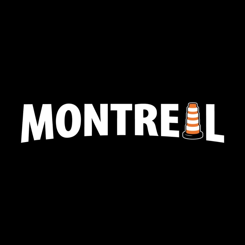 Montreal Traffic Cone Home Mounted Acrylic Print by Wasabi Snake