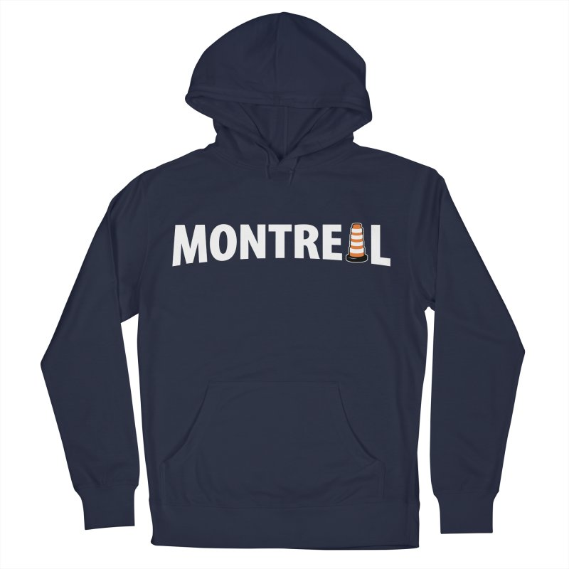 Montreal Traffic Cone Women's French Terry Pullover Hoody by Wasabi Snake