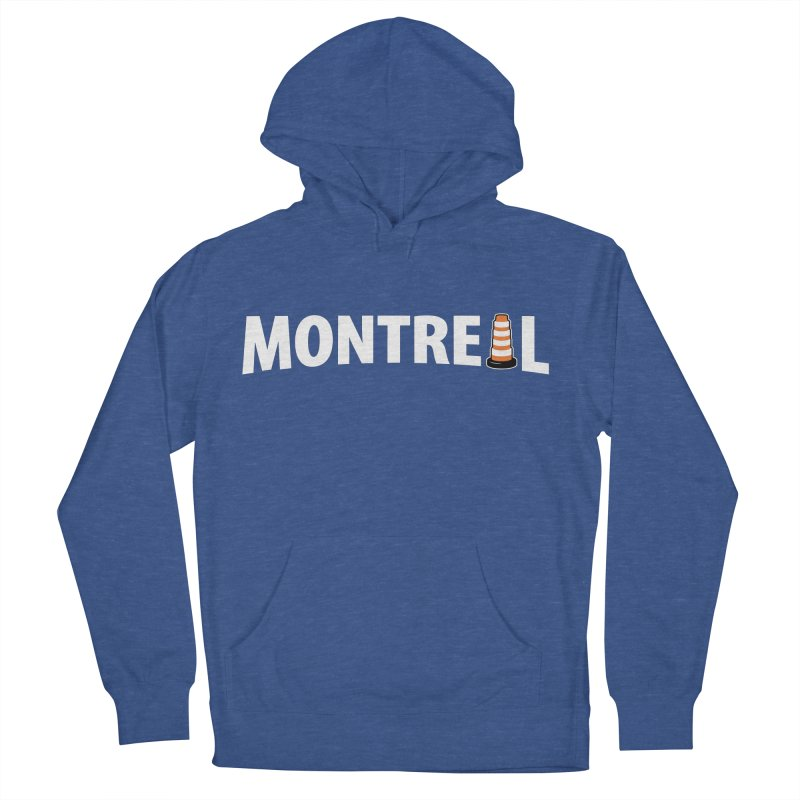 Montreal Traffic Cone Men's French Terry Pullover Hoody by Wasabi Snake