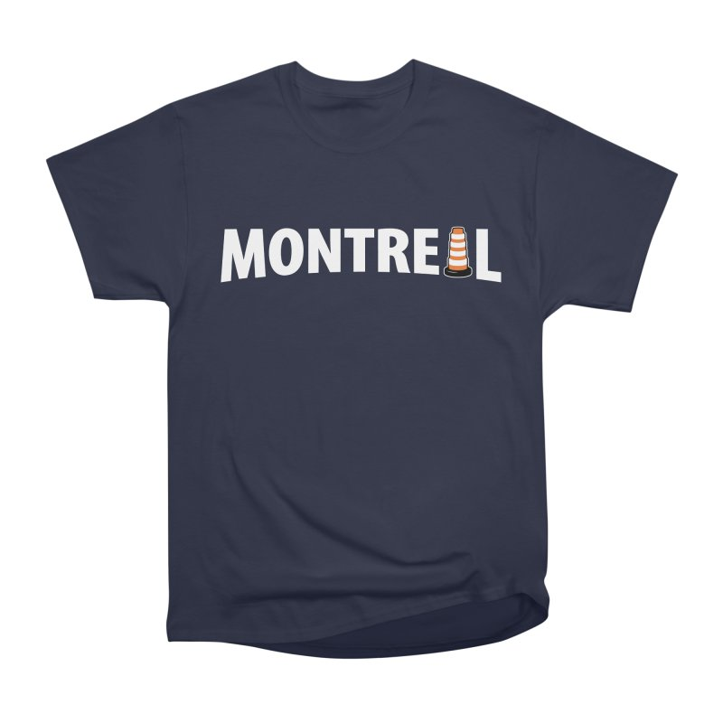 Montreal Traffic Cone Women's Heavyweight Unisex T-Shirt by Pete Styles' Artist Shop