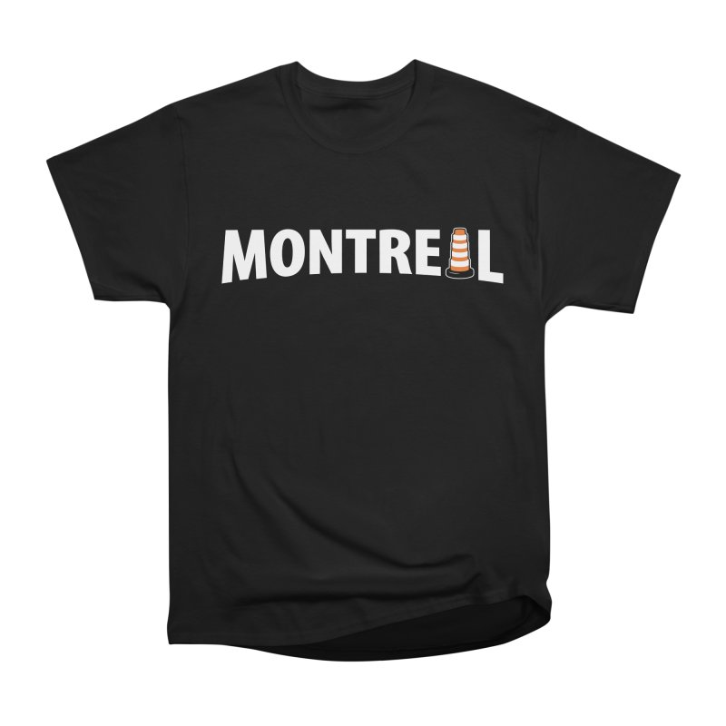 Montreal Traffic Cone Men's Heavyweight T-Shirt by Wasabi Snake