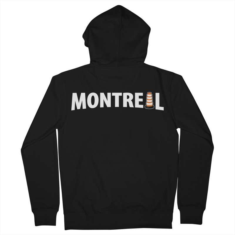 Montreal Traffic Cone Women's French Terry Zip-Up Hoody by Wasabi Snake