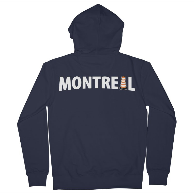 Montreal Traffic Cone Women's Zip-Up Hoody by Pete Styles' Artist Shop
