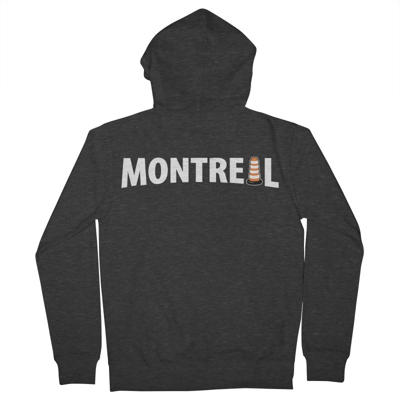 Montreal Traffic Cone Men's French Terry Zip-Up Hoody by Wasabi Snake