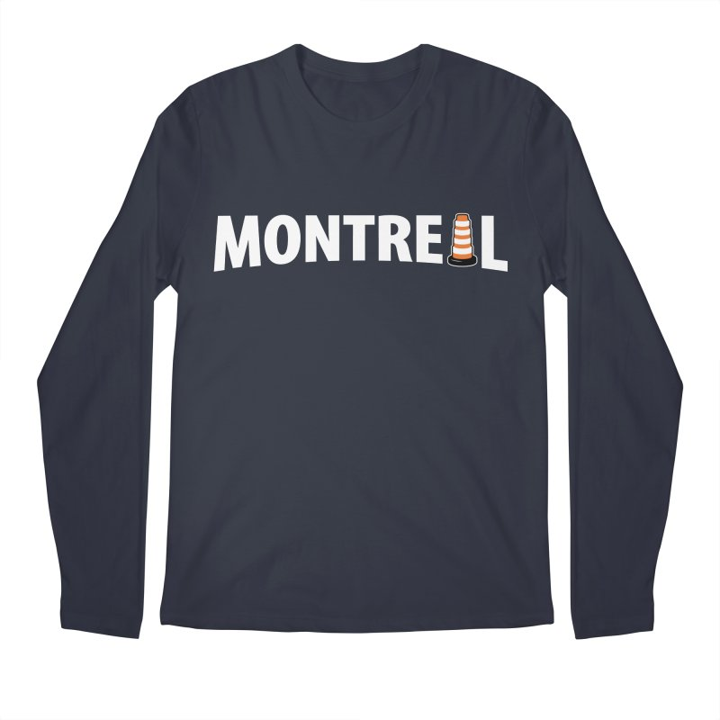 Montreal Traffic Cone Men's Regular Longsleeve T-Shirt by Wasabi Snake